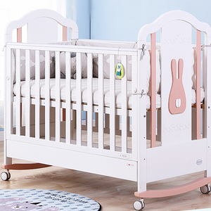 Wooden furniture MOOB 3-in-1 baby crib good quality and good price
