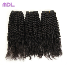 High quality hair pieces kinky afro curly 100% human brazilian wefts