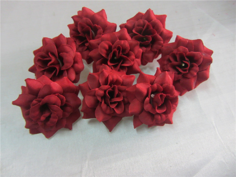 artificial flower factory small fabric that look real velvet rose head felt flower