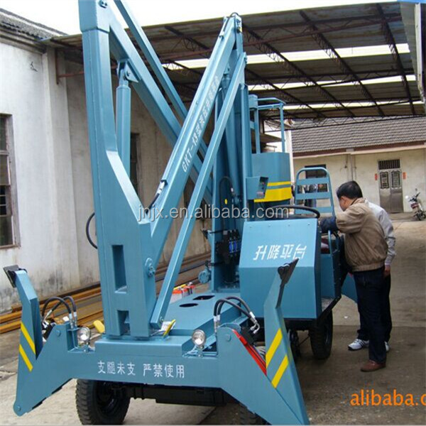 Hydraulic Boom Joint : Hydraulic mobile crank arm rotating boom lift platform