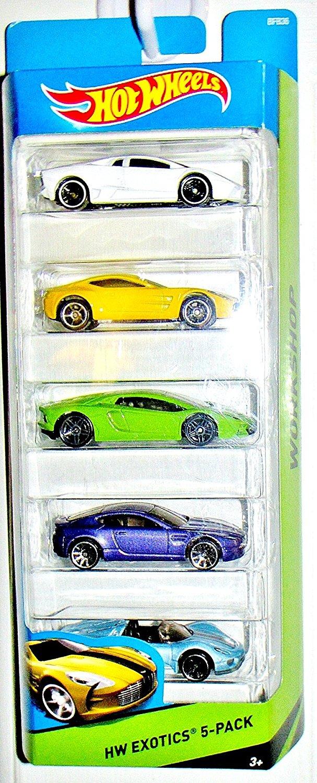 Hot Wheels Hw Exotics 5-pack Aston Martin One-77, Aston Martin V8 Vantage, Lamborghini Aventador Lp 700-4, Reventon, Porsche 918 Spyder