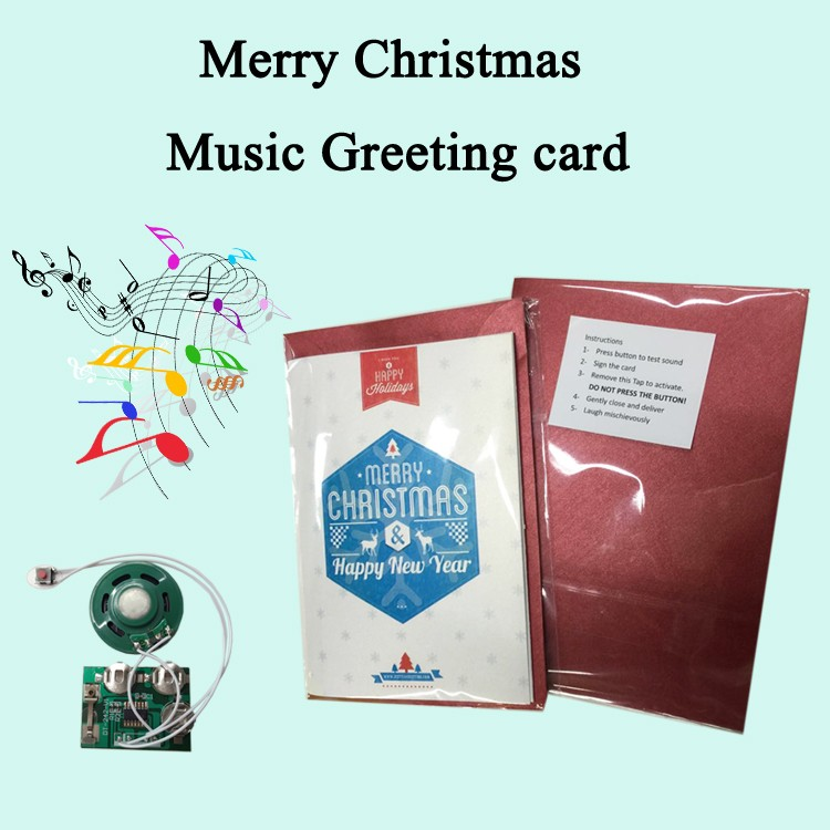 Creative custom recording electronic music greeting card for friends birthday invitation