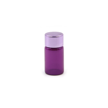 packaging glass tube 5ml 8ml 10ml painting purple glass tube bottle with aluminum cap