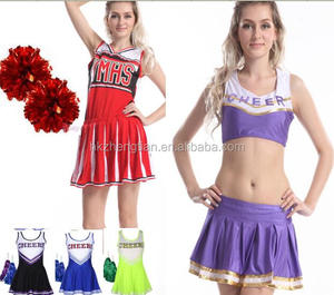 instyles 2014 Sexy Cheerleader High School Musical Fancy Dress Glee Theme Costume