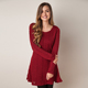 Wholesale Cheap Round Collar Long Sleeve Knit Cable Sweater Dress