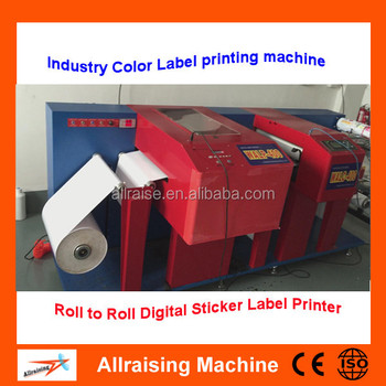 digital automatic roll to roll label printer with cutter cmyk 4