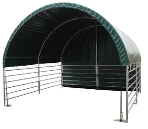 SS404 High Quality Prefab Steel Frame Fabric Structure Livestock Shelter