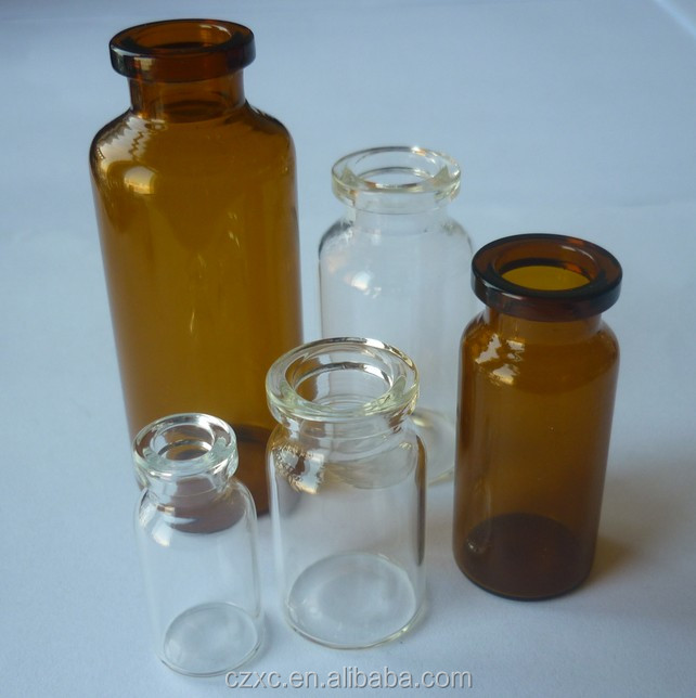 Sterile/aseptic empty glass bottles/vials for powder injection