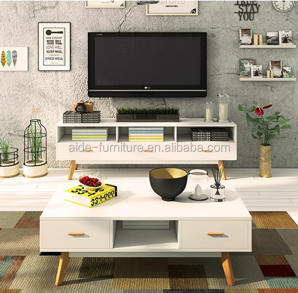 Scandinavia furniture design wooden Modern TV stand cabinet for living room