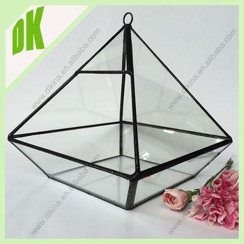 Icosidodecahedron Glass Terrarium Large Terrarium Container