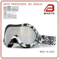 Yellow lenses ski goggles for flat light