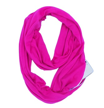 Wholesale Infinity Scarf With Hidden Zipper Pocket Scarf Women