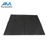 Hot Sale Custom Printed Logo Matte Black Wrapping Tissue Paper Gift Packing