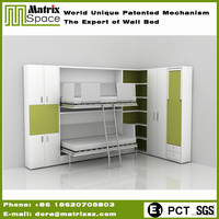 New Arrival Modern Horizontal Adult Twin Wall Bed Space Saving For Sale