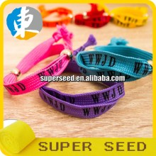 2017 Hot product Bright color sublimation for woven WWJD friendship bracelets