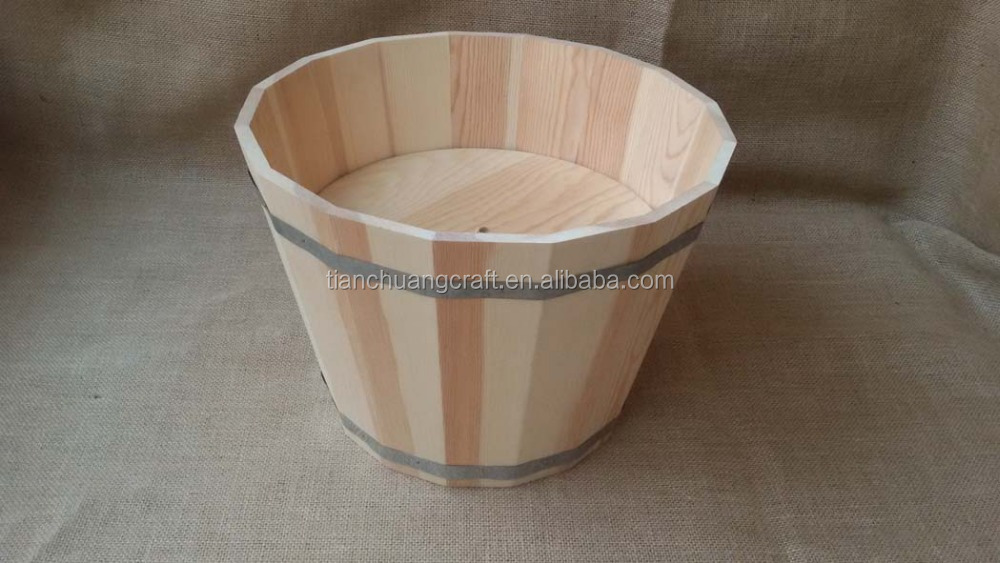 custom made <strong>wooden</strong> rice buckets and barrel 24.5cm height