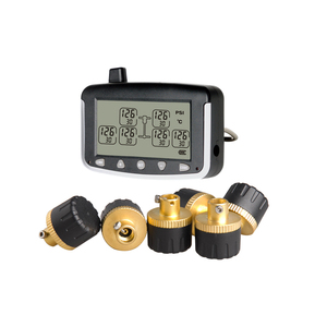 Truck and trailer RV motorhome Tire Pressure Monitoring System external cap copper valve sensor 6 tires TPMS
