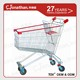 150L metal material shopping cart prices with child seat