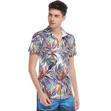 factory sale printed short-sleeved men's hawaiian shirt
