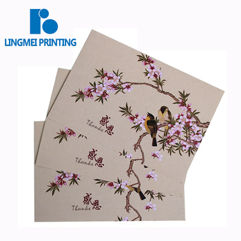 New style cardboard full color blank folded seasons greeting card / birthday greeting card printing service