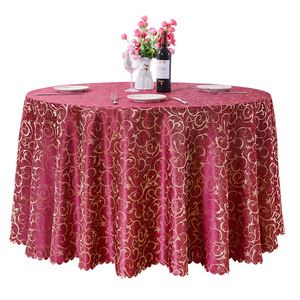Factory wholesale very cheap jacquard table cloth for hotel