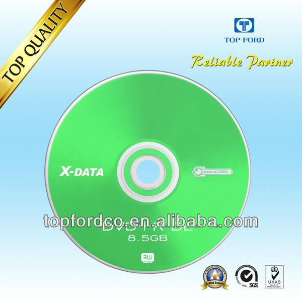 Dual Layer DVD+R DL 8.5GB with Customized Logo Printing