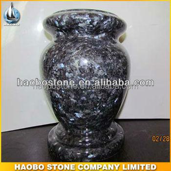 Blue Pearl Vase For Cemetery Buy Cheap Granite Vase For