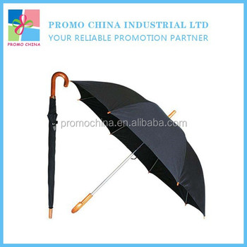 Top Quality Black 190T Pongee Fabric Golf Umbrella For Outdoor Use