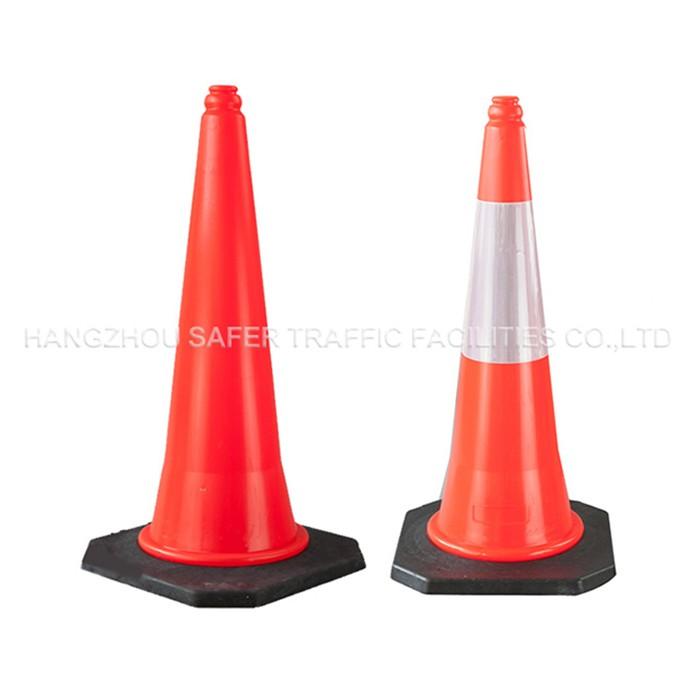 75 cm kırmızı yeni stil yüksek kaliteli plastik trafik konisi
