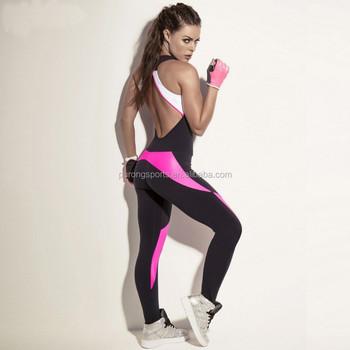 29f1198f6ac Wholesale Gym Wear One-piece Playsuits Women Elastic Jumpsuits - Buy ...