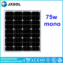 price per watt 75w mono solar panel for solar power plant