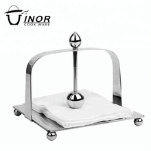 stand stainless steel serving tray metal napkin holder for sale