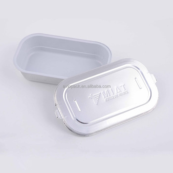 Professional silver aluminum foil lunch box for inflight