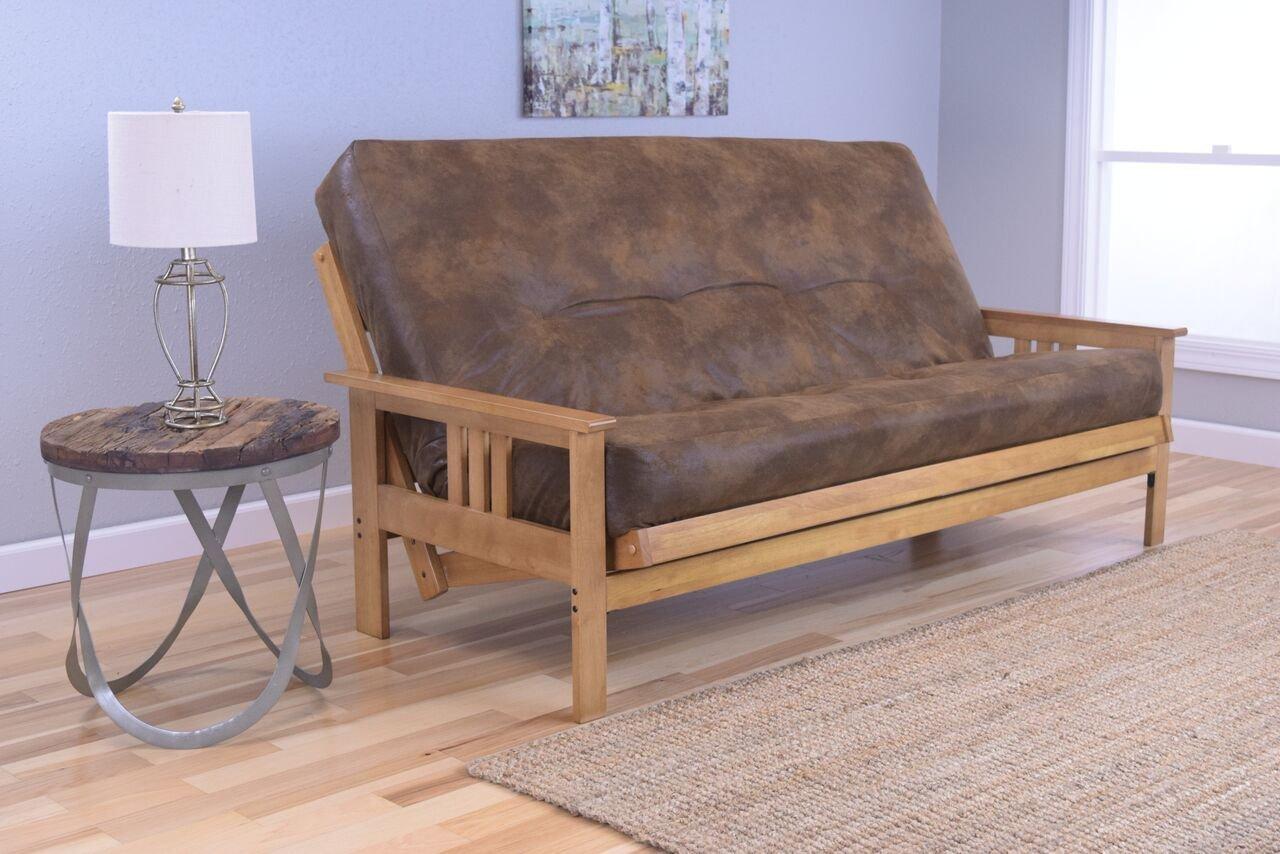 beige full gel innerspring inch futons mattress home hansen foam ivory memory size pin futon alder clay