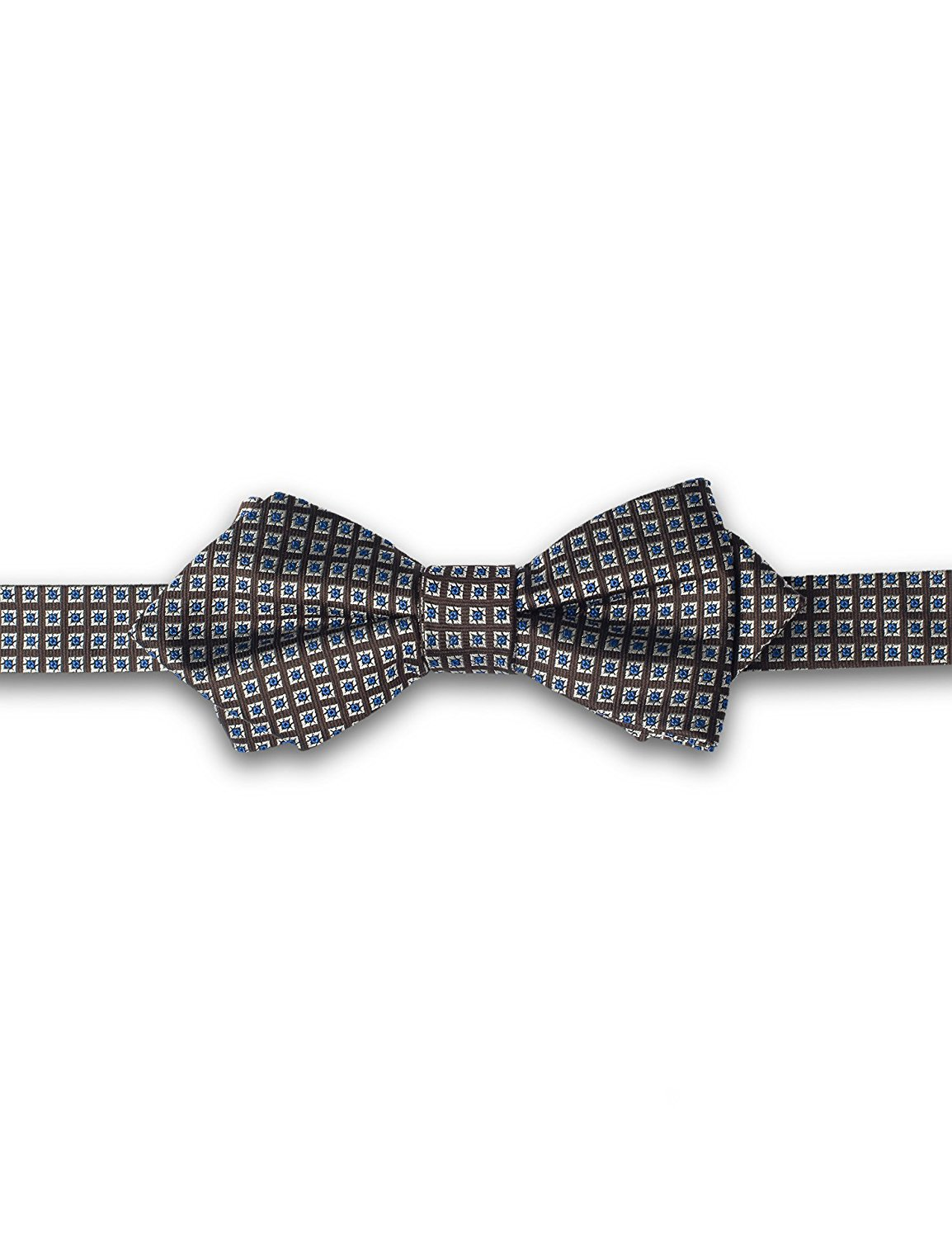 ST34 Brand New Navy Blue and Beige Polka dots Tuxedo Bow ties for Men Bow tie and Pocket square SET BB-883