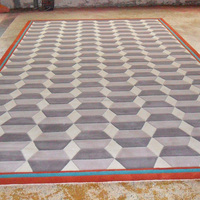 hand tufted carpets made by viscose silk and wool with high quality