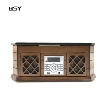 Factory Direct sale 1722 Nostalgic wooden Turntable with Radio and Bluetooth passed CE FCC ROHS ISO9001