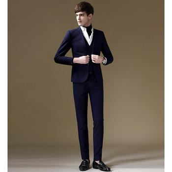 e47869e4f4fa0 Estilo coreano clásico mens formal chaleco Bragas de la capa trajes skinny