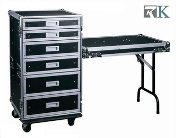 Storage Cases With Lip/Table And Drawers For Hardware Display
