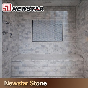Prefabricated Marble Bathroom Tile Board Wall