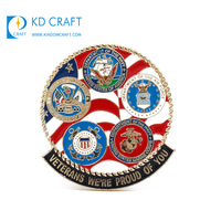 High quality custom made metal material zinc alloy 3D gold plating eagle america scout badge