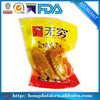 snack food plastic chicken packing bag for meat with hang hole