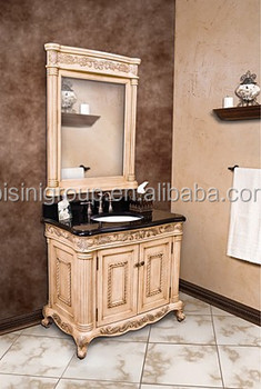 Elegant Exclusive Bathroom Vanity Rococo Cabinet Vintage Furniture In European Style