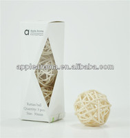 nice packing white natural decorative rattan ball