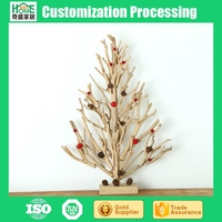Cheap Customizable Hand made Desktop Decoration Wood Christmas Tree