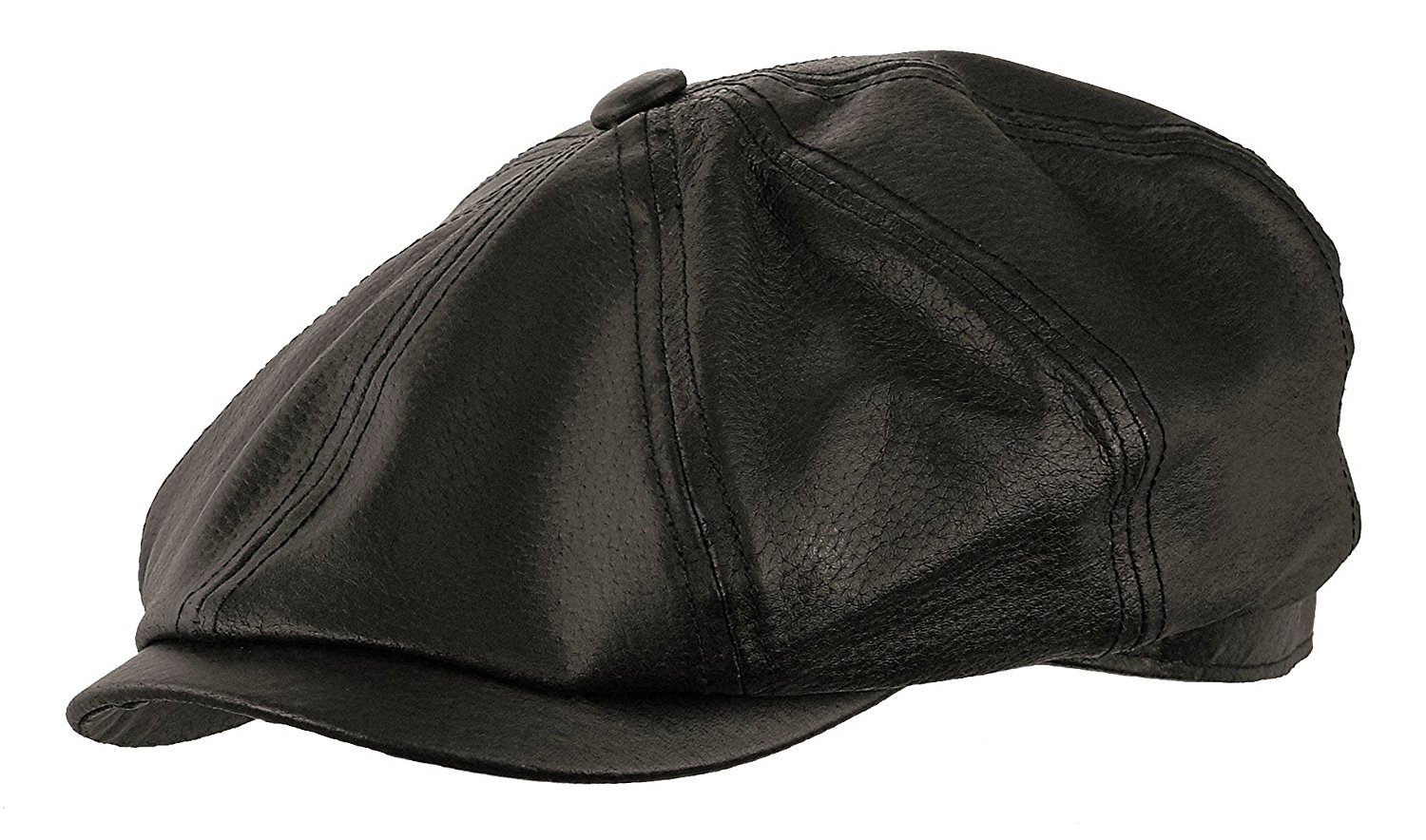 1821f6f6c70 Get Quotations · ROOSTER HEADWEAR Genuine Leather Gatsby newsboy Cap Golf IVY  Driving Hat