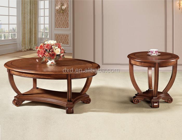 Solid Wood Coffee Table Oval Office Leisure Tea