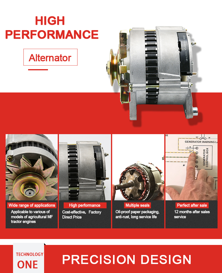 Weltake WMM Tractor Engine Factory Supply Different Types Car Alternator For MF 240,350,390