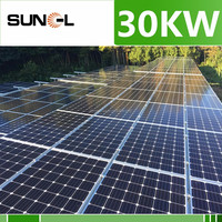 Customized design easy installation 30kw solar panel system with 25 years warranty
