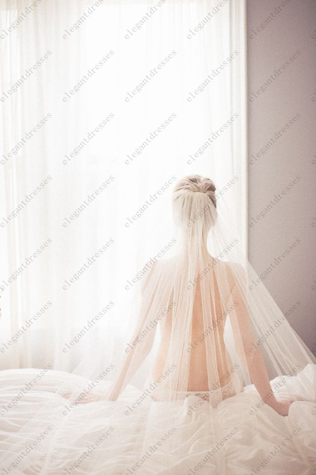 Get Quotations Simple 3 M Wedding Veils Long Bridal Veil With Comb Accessories Voile